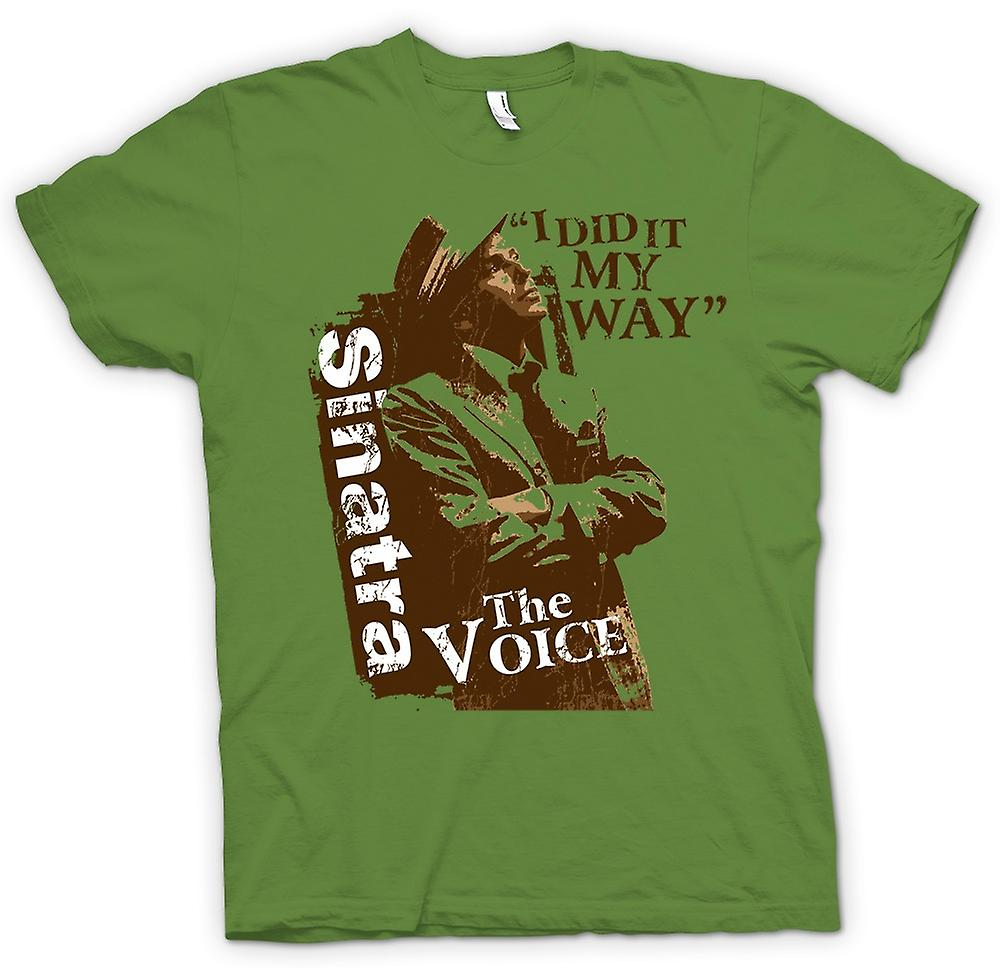 Mens T-shirt - Frank Sinatra My Way - The Voice