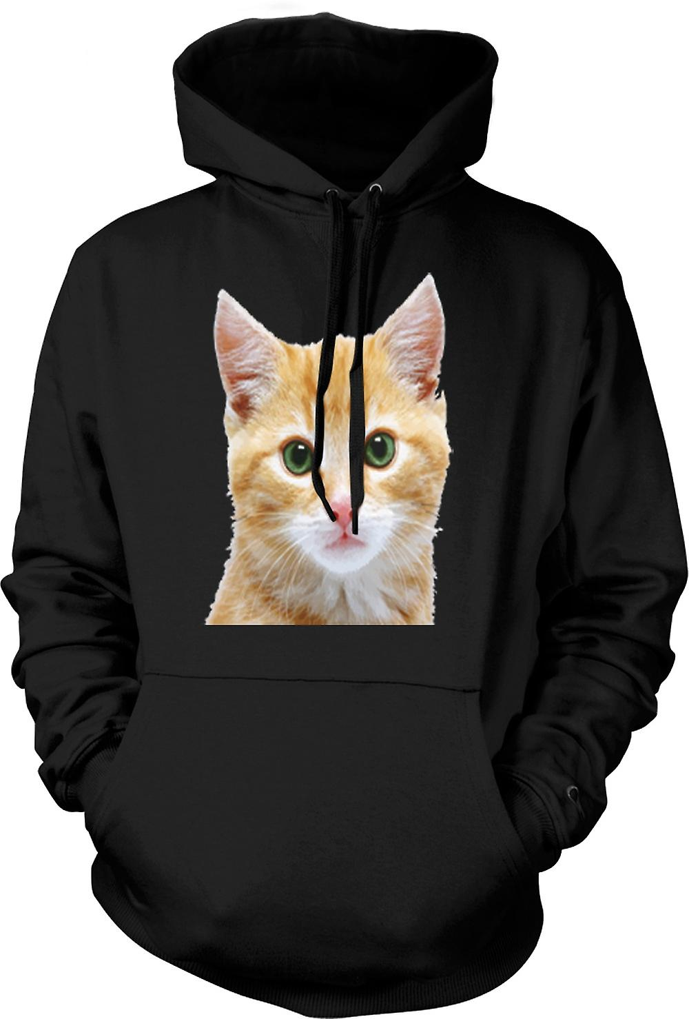 Kids Hoodie - Cute Red Kitten Face Portrait