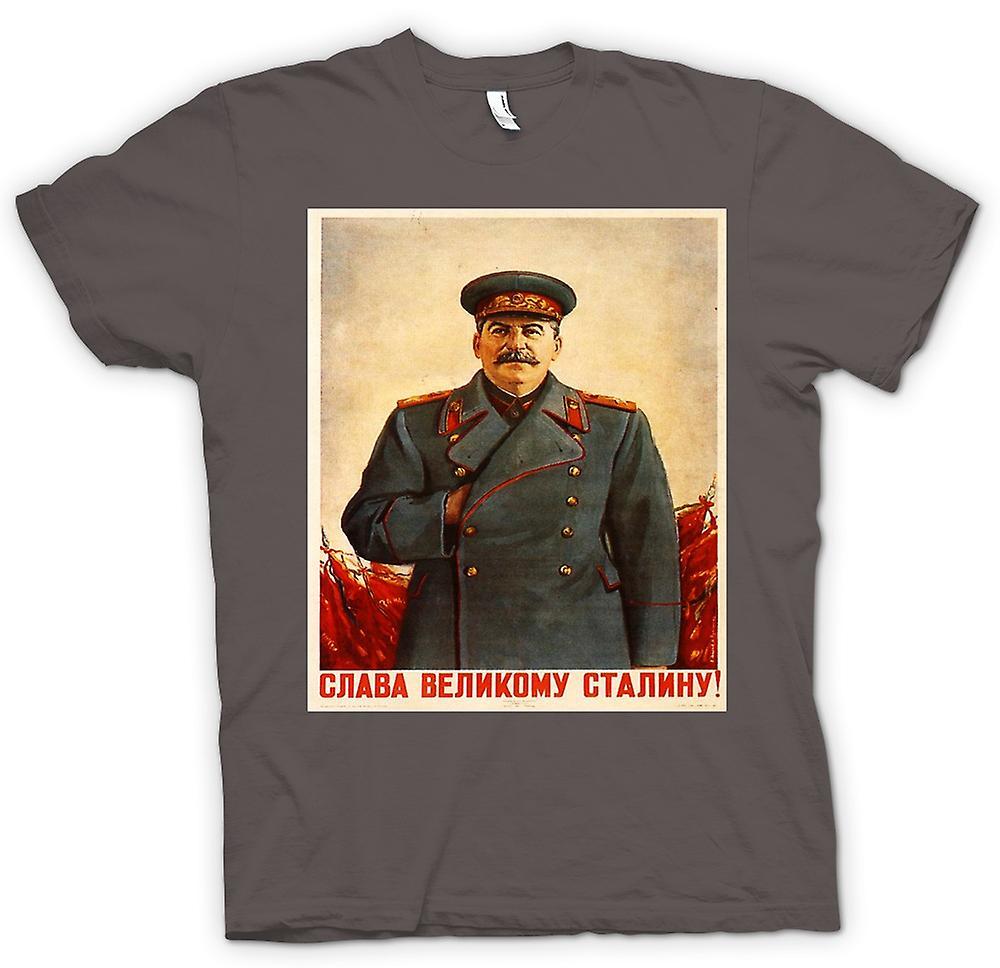 Womens T-shirt - Russische Propaganda Poster - Stalin