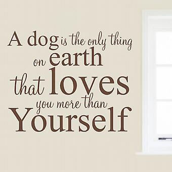Dog wall quote sticker