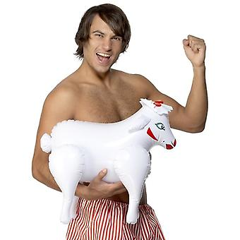 Mens Inflatable Sheep Fancy Dress Accessory