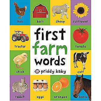First Farm Words (First 100) [Board book]