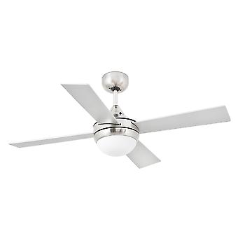 Faro - Mini Icaria lille Matt nikkel loft Fan med lys FARO33699