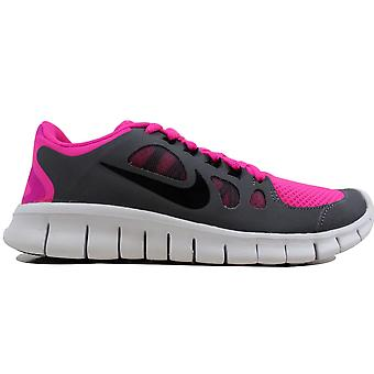 Nike Free 5.0 Pink Foil/Black-Cool Grey-White 580565-601 Grade-School