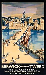 Berwick Upon Tweed (old LNER ad.) fridge magnet