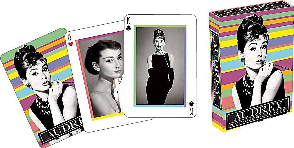 Audrey Hepburn set of playing cards    nm