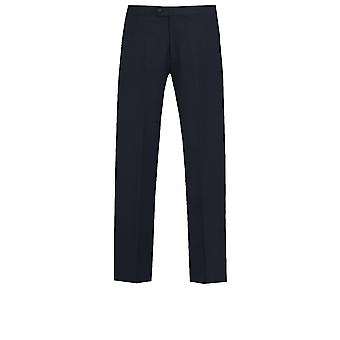 Dobell Mens Navy Tuxedo Trousers Regular Fit Satin Side Stripe