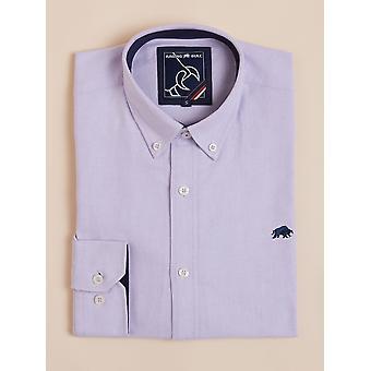 Long Sleeve Signature Oxford Shirt - Purple