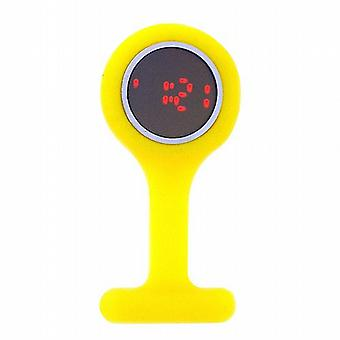Boxx Led Digital Yellow Rubber Infection Control Nurses Fob Watch
