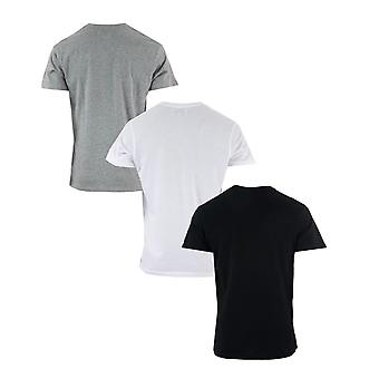 Mens Ben Sherman Baxter 3 Pack T-Shirts In Black Grey White- Set Comprises Of 3