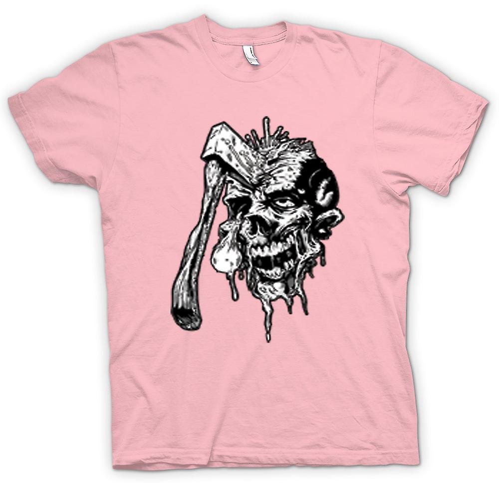 Kids t-shirt - despedido Zombie cráneo negro y blanco diseño