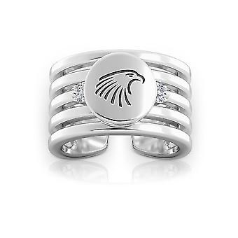 Embry-Riddle Aeronautical University Eagles Logo Engraved Multiband Cuff Ring