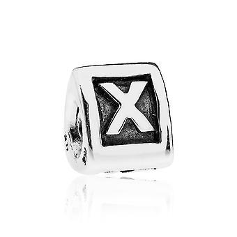 Pandora Alpha X Silver Initial Charm 790323X