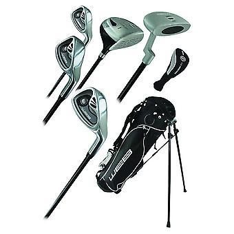 Go Junior Childrens 7 Piece Golf starter Kids pakke sæt alder 13-16 venstre hånd