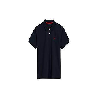 Gant Pique Rugger Polo Shirt Navy