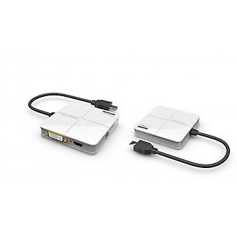 USB 3.0 to DVI & HDMI Dual Video Adapter w/ 1000Mbps Gigabit Network