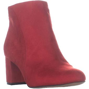 INC Womens Floriann Suede Booties Ankle Boots Red 10 Medium (B,M)