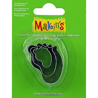 Makin's Clay Cutters 3/Pkg-Baby Foot M360-30