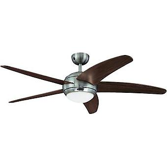 Ceiling fan Westinghouse Bendan (Ø) 132 cm Wing colour: Brown Case colour: Aluminium (brushed)