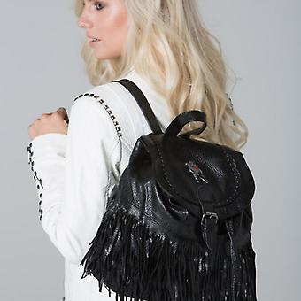 POLAR WHITES BLACK TASSEL BACKPACK o : o