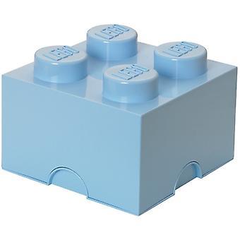 LEGO Aufbewahrungsbox: Brick 4 (6 Ltr) hellblau