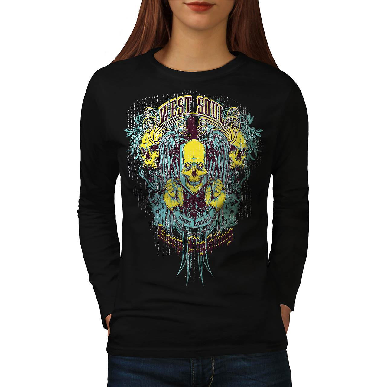 West Soul Lightning Super Combat Women Black Long Sleeve T-shirt | Wellcoda