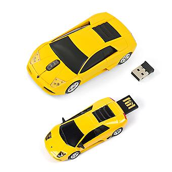 Offizielle Lamborghini Murceilago Funkmaus + USB 4Gb Memory Stick-Geschenk-Set