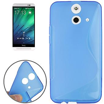 Mobile case TPU protective case for HTC one E8 blue