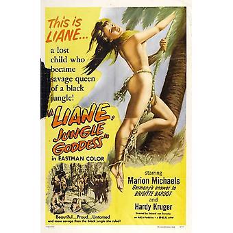 Locandina del film di dea giungla liane (11 x 17)