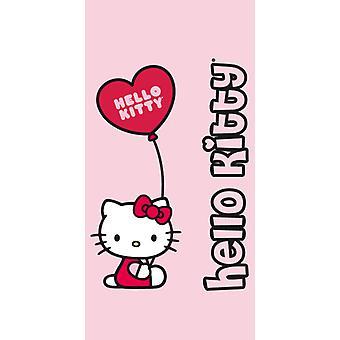 Hello Kitty bad håndklæde 75x150cm ballon og havet