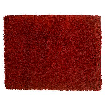 Red Plain Shaggy Rug Petersberg
