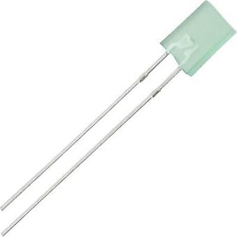 LED wired Green Rectangular 2 x 5 mm 4 mcd 100 ° 30 mA 2.2 V Everlight Opto