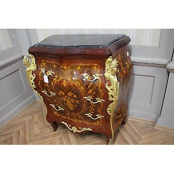 Chest of drawers baroque cabinet Louis xv antique style AaKm0127