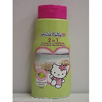 2 x HELLO KITTY 2 IN 1 SHAMPOO & CONDITIONER mit Toten Meer Mineralien & Grüntee