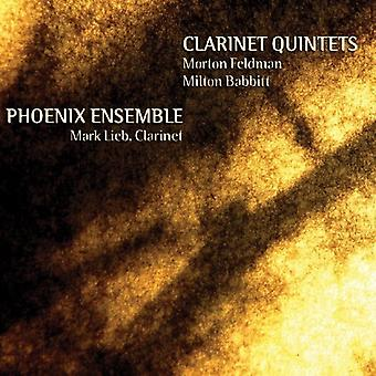 Mark Lieb & Phoneix Ensemble - Morton Feldman, Milton Babbitt: Clarinet Quintets [CD] USA import