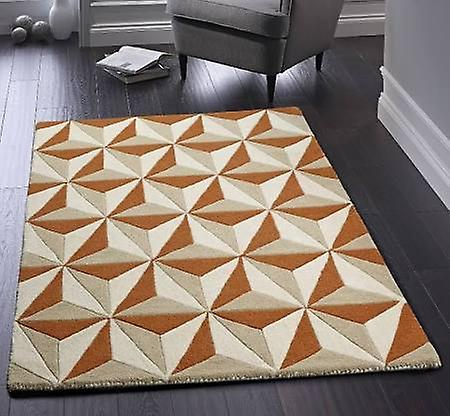 Cubics Rust  Rectangle Rugs Plain/Nearly Plain Rugs
