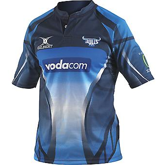 ¡GILBERT Blue Bulls Home SuperRugby Rugby camiseta - RRP £65!