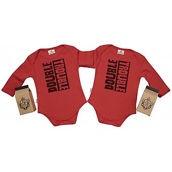 Verwend rotte Double Trouble-Babygrow
