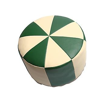 Seat cushion Pouffe Oriental pillow around synthetic leather green/champagne, width 50 cm, height 34 cm