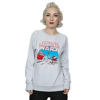Star Wars Womens siste Jedi handling Scene Sweatshirt