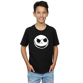 Disney Boys Nightmare Before Christmas Jack Skellington Face T-Shirt