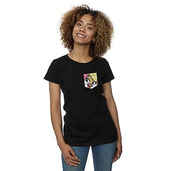 Looney Tunes kvinders Lola Bunny ansigt Faux lomme T-Shirt
