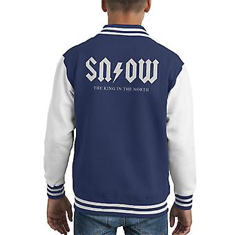 Snow Acdc Logo Game Of Thrones Kid's Varsity Jacket