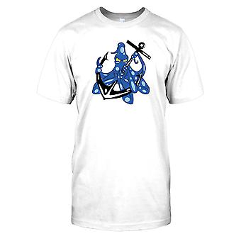 Kinder T-shirt DTG Print - Octopus Anker Navy Tattoo-