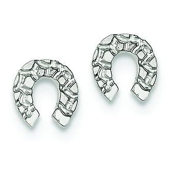 Sterling Silver Solid Polished Post Earrings Horseshoe Mini for boys or girls Earrings - 1.0 Grams