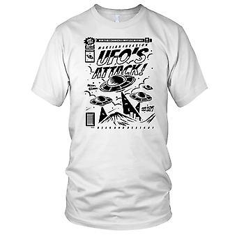 Gli UFO attaccano ET Sci Fi Mens T Shirt