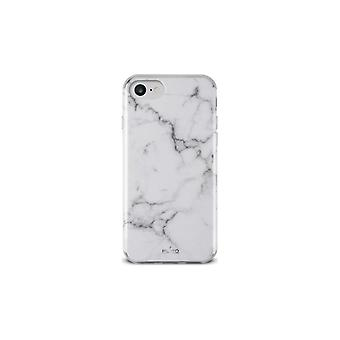 PURO iPhone 8/7/6/6S, Marble Cover, white