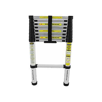 Charles Bentley DIY 2.6 M Extendable Extension Telescopic Ladder - Soft Close Anti Pinch Finger Protection -  EN131-6 Safety Certificate