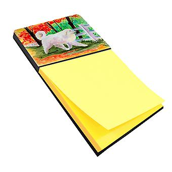 Great Pyrenees Refiillable Sticky Note Holder or Postit Note Dispenser
