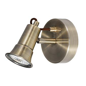 Searchlight 1221AB Eros Antique Brass 1 Way Traditional Wall Spotlight